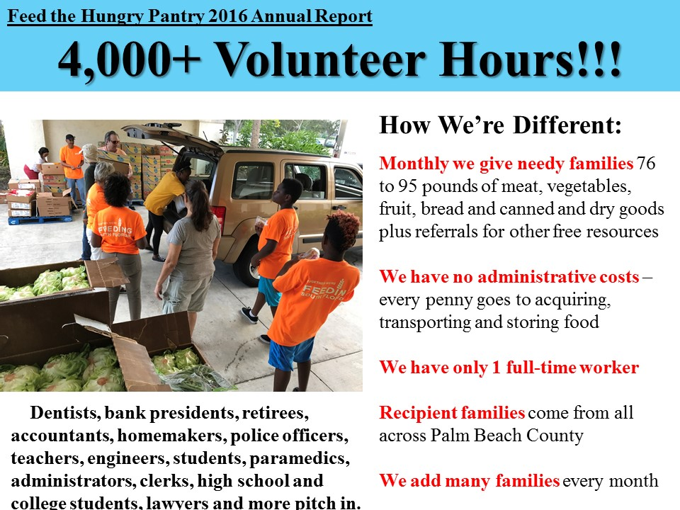 Feed the Hungry Pantry of Palm Beach County - Annual Report